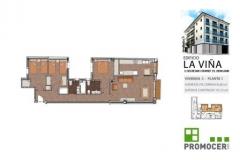 Planos Edificio La Viña Piso 1ºC