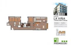 Planos Edificio La Viña Piso 2ºC
