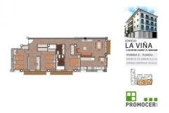 Planos Edificio La Viña Piso 3ºB