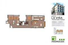 Planos Edificio La Viña Piso 3ºC